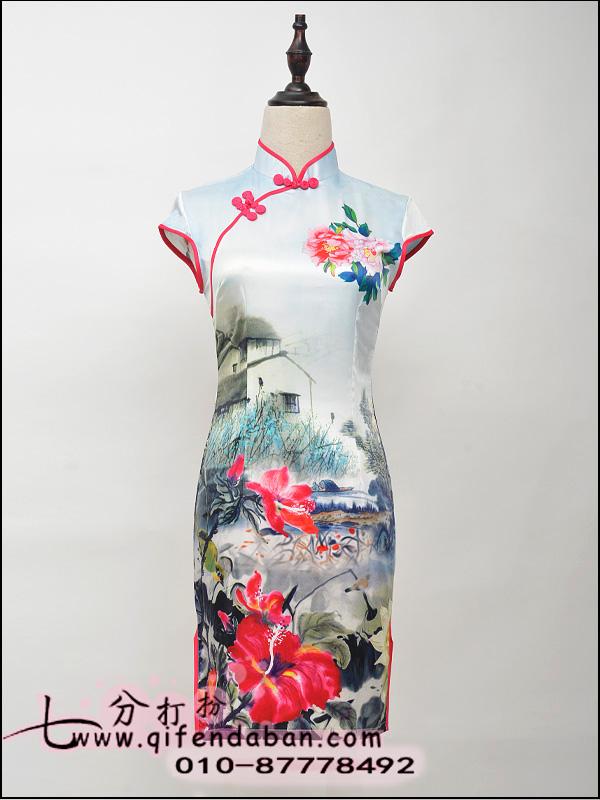 短款旗袍3655