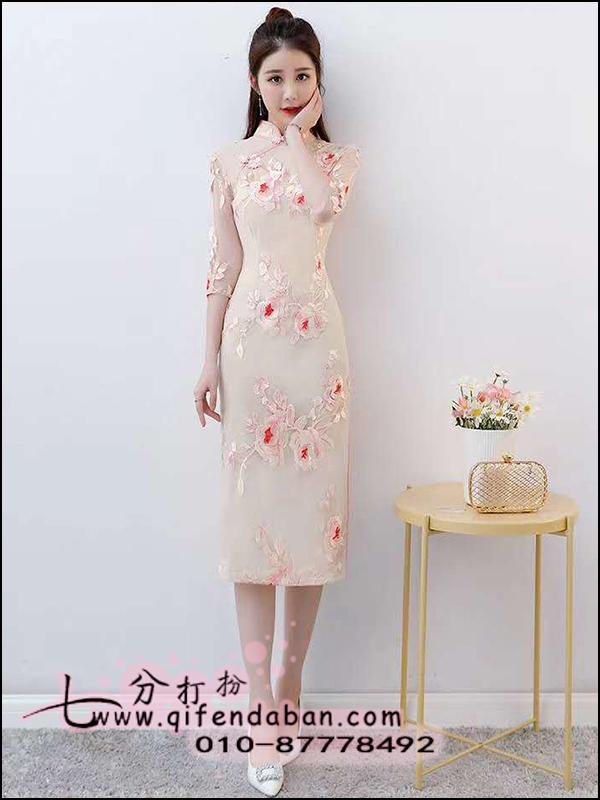 中长旗袍1