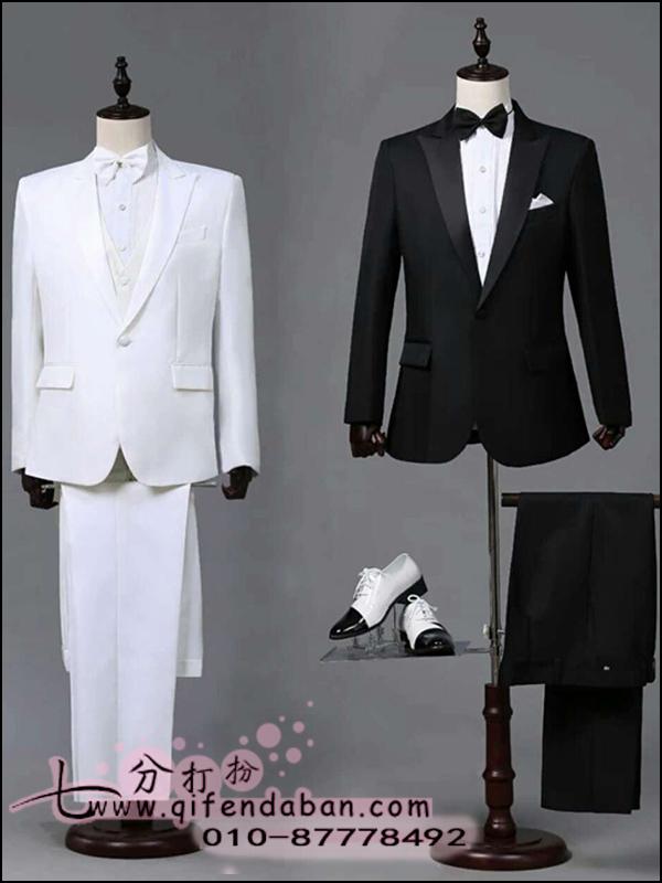 黑色白色合唱服