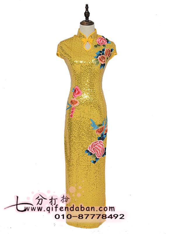 长款旗袍 3203